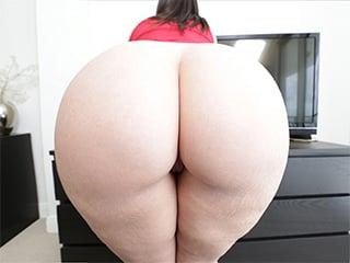 Big white ass riding cock