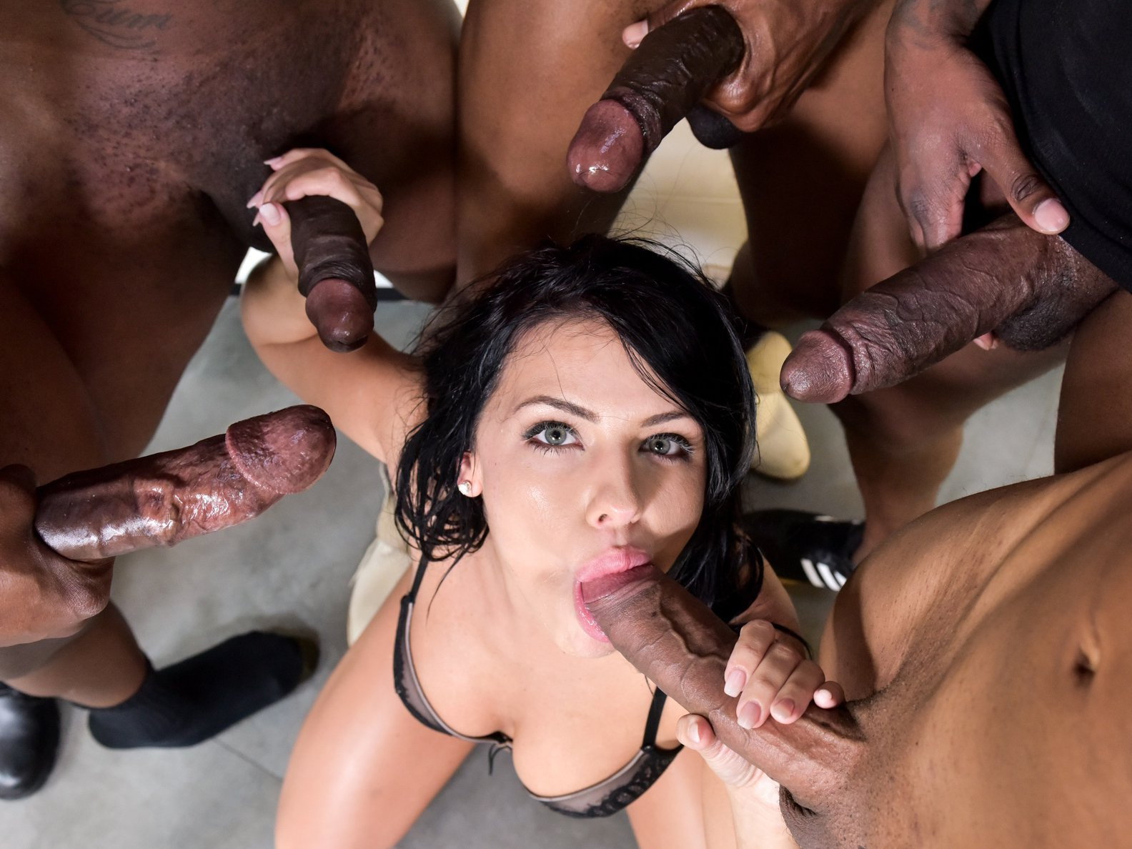 Huge Cock Gangbang, Gangbang Monster, Cumshot Compilation