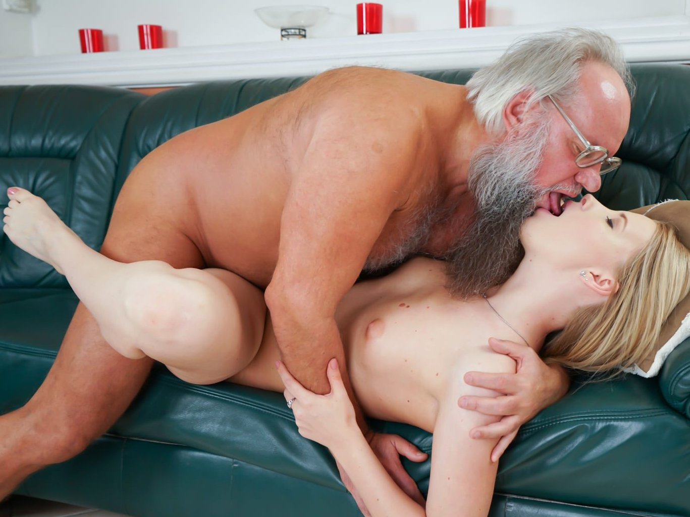 Old Man Licks And Fucks Teen Girl Pussy