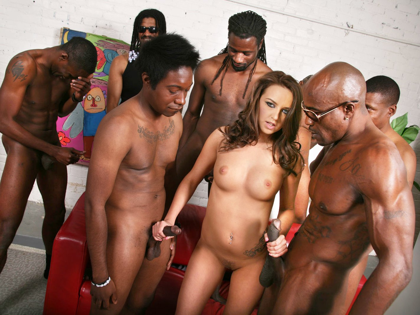 Black Men Gangbang Blonde