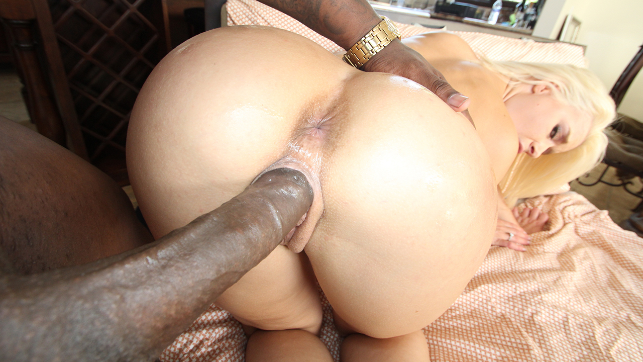 Big Black Cock White Ass
