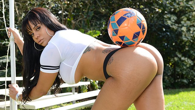 Brazilian Milf With Juicy Ass Dani Lopes Fucked On The Soccer Field